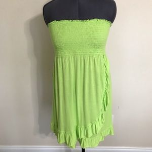 Nicole Miller Sundress/Pool Cover Up Green XL